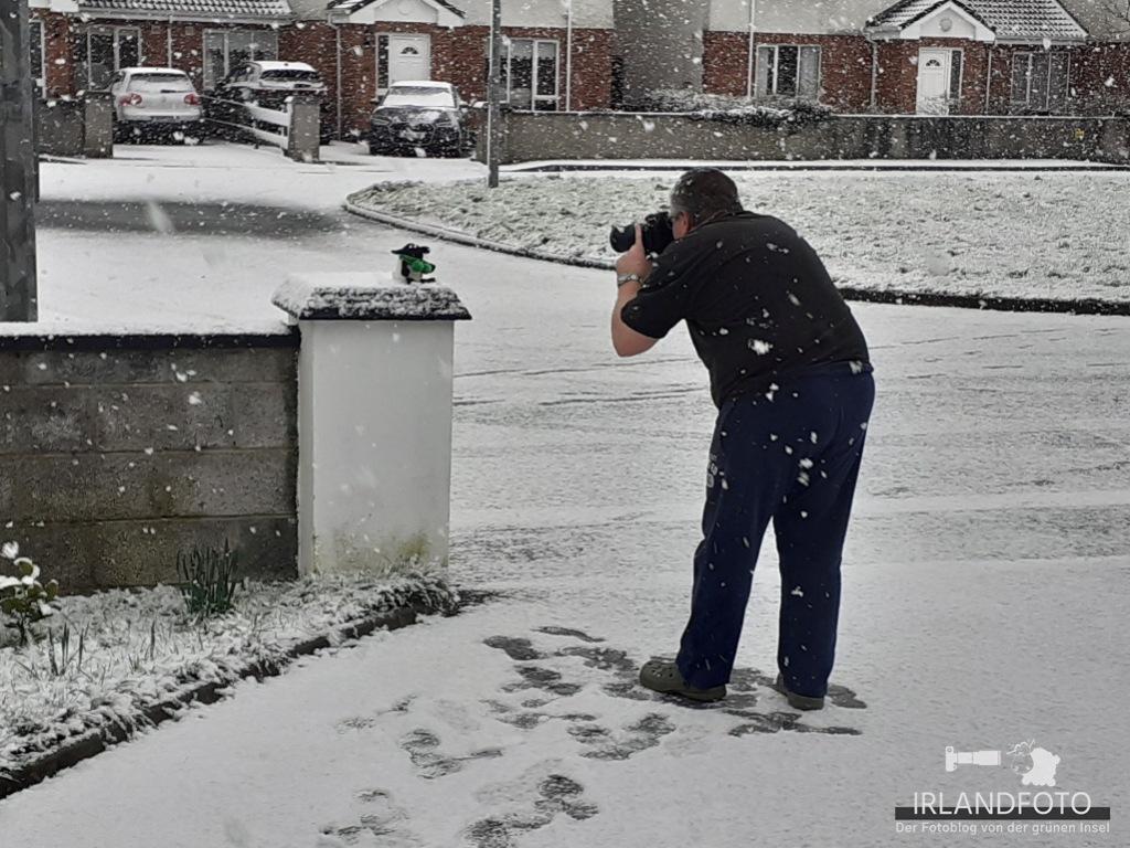 Fotoshooting mit Fionn im Schnee